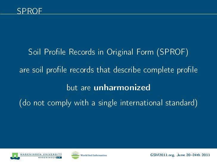 Open soil profiles testbed data portal for storing soil for Describe soil