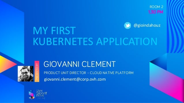 Deploying your first application with Kubernetes