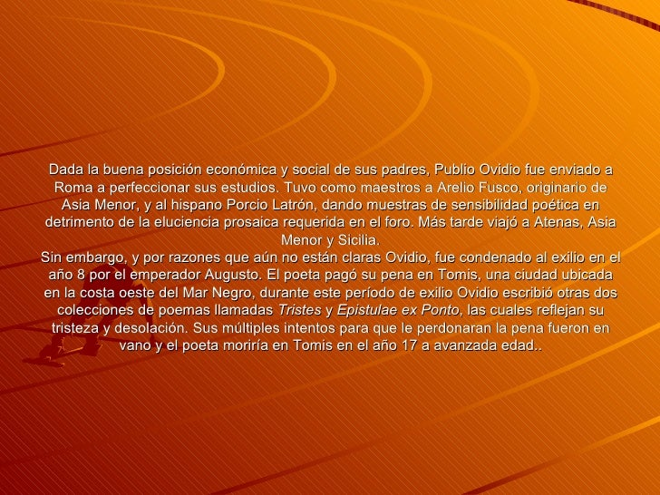 Ovidio Y El Arte De Amar Slide 3