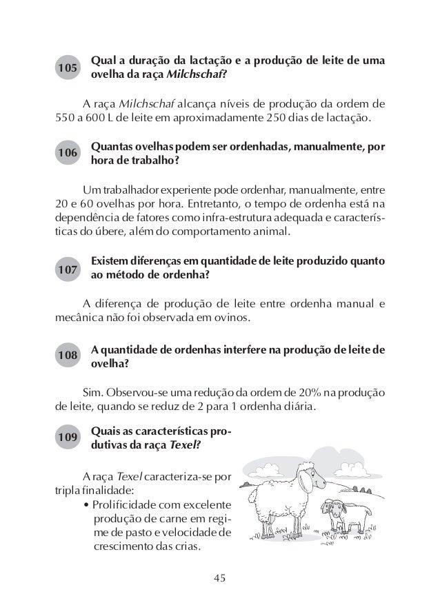 52 de um trabalhador é de 40 a 50 ovelhas, aproximadamente, sendo uma atividade leve que pode ser feita por crianças, mulh...