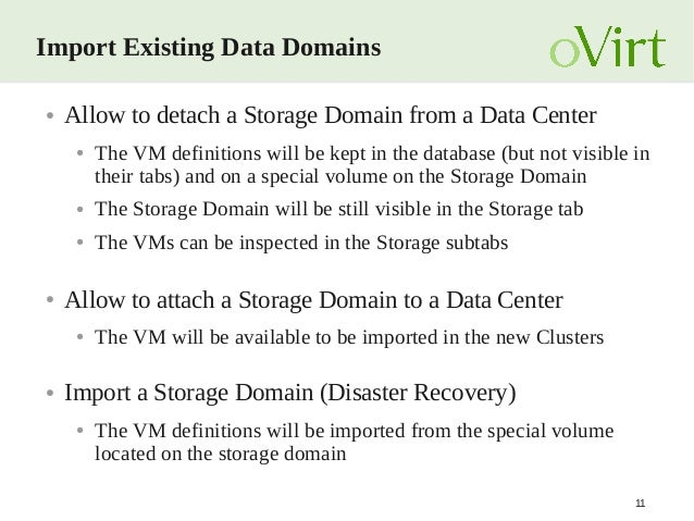 oVirt 3 5 Storage Features Overview