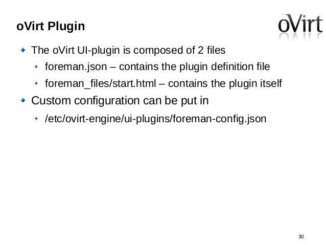 OVirt Plugin U2013 VM Foreman Graphs 29; 30.