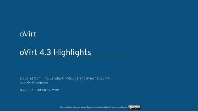 oVirt 4 3 highlights