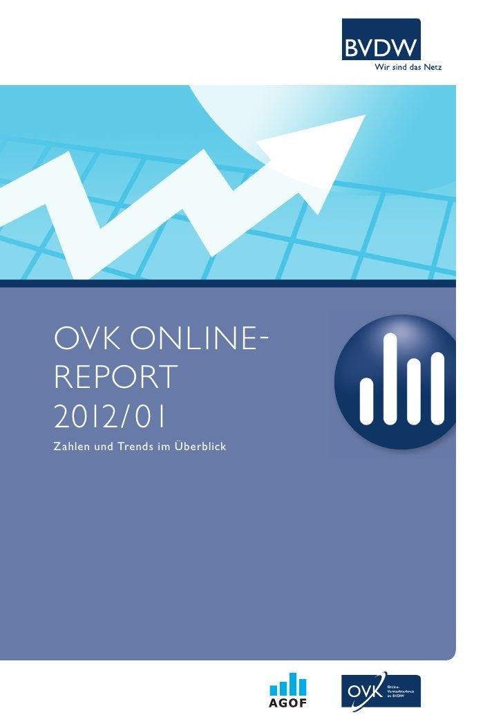 OVK ONLINE -REPORT2012/ 01zahlen und trends im überblick