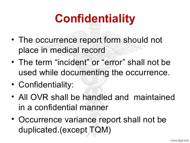 occurrence variance report