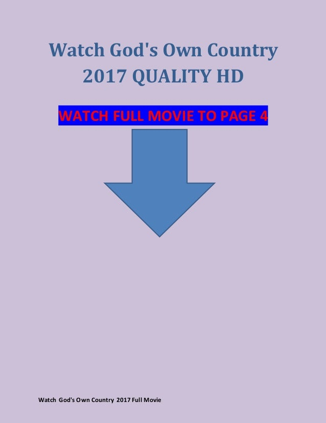 gods own country full movie putlockers