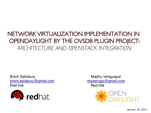 NETWORK VIRTUALIZATION IMPLEMENTATION IN OPENDAYLIGHT BY THE OVSDB PLUGIN PROJECT: