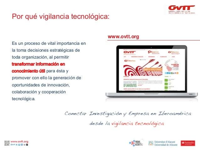 III Congreso Internacional RedUE-ALCUE: redes de valor para la vigilancia tecnológica Slide 3