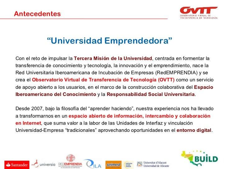 Presentación del OVTT al proyecto europeo BUILD Slide 2
