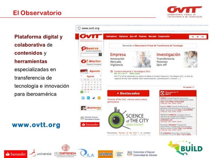 Presentación del OVTT al proyecto europeo BUILD Slide 3