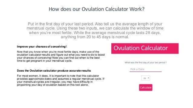 Ovulation Calculator | Fertility Calculator