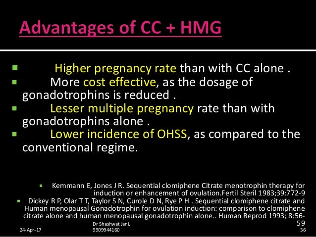 clomiphene citrate dose ovulation induction injections