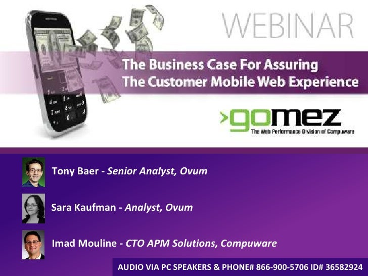 The Business Case for Assuring The Customer Mobile Web Experience