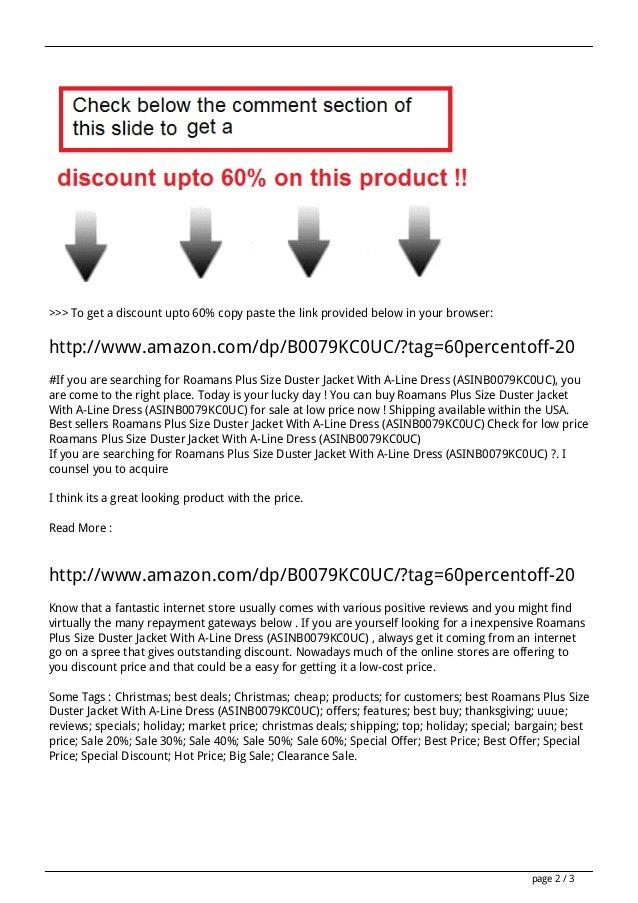 Sales roamans-plus-size-duster-jacket-with-a-line-dress-asinb0079kc0uc-review Slide 2