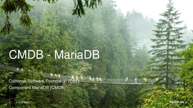 Deploying MariaDB databases with containers at Nokia Networks Slide 3