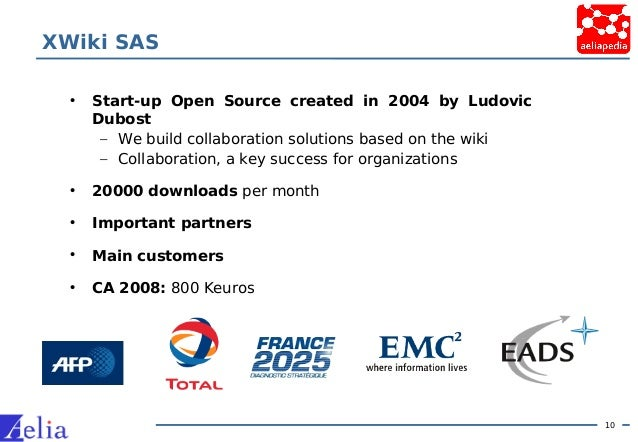 10 XWiki SAS • Start-up Open Source created in 2004 by Ludovic Dubost – We build collaboration solutions based on the wiki...