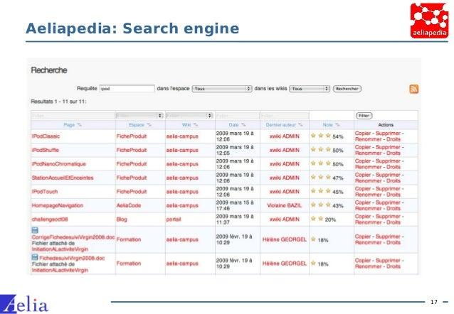 17 Aeliapedia: Search engine