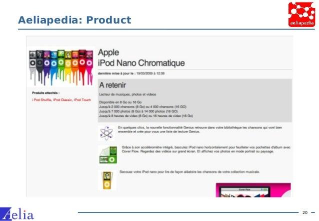 20 Aeliapedia: Product