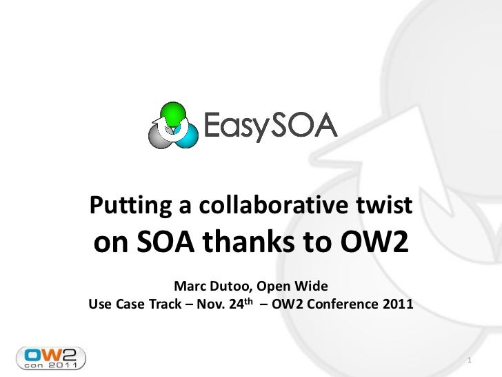 Putting a collaborative twiston SOA thanks to OW2             Marc Dutoo, Open WideUse Case Track – Nov. 24th – OW2 Confer...
