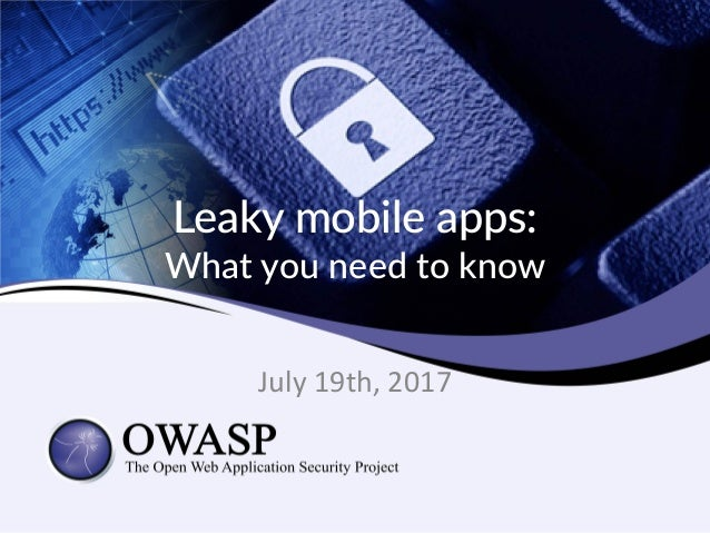 Leaky mobile apps: 