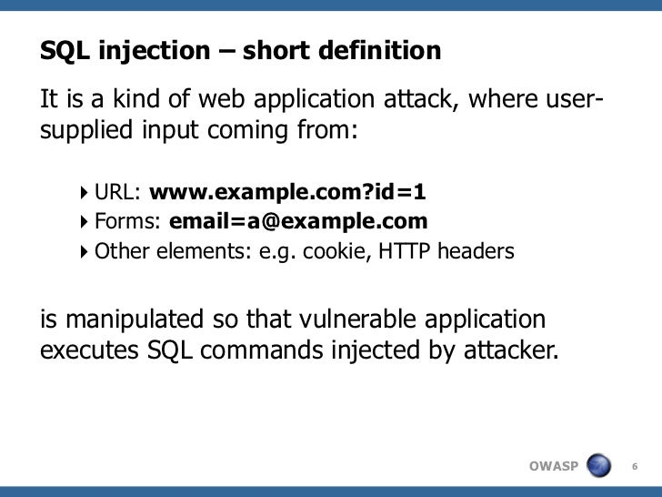php injection sql