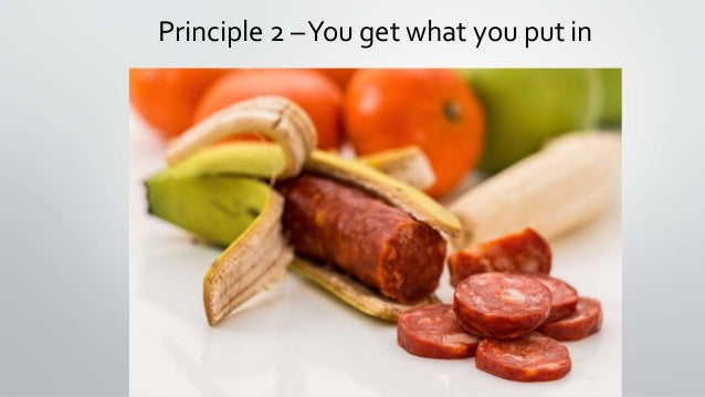 Principle 2 –You get what you put in