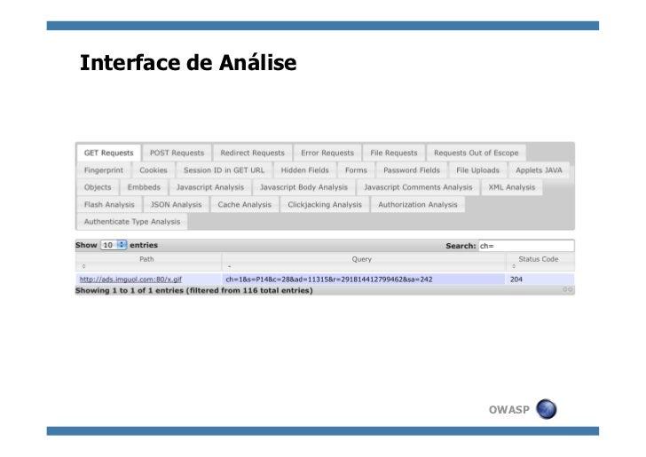 Interface de Análise                       OWASP