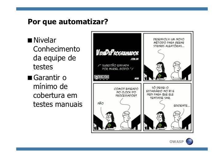 Automatizando a análise passiva de aplicações Web Slide 2