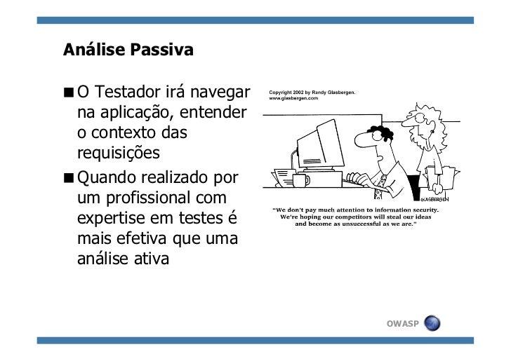 Automatizando a análise passiva de aplicações Web Slide 3