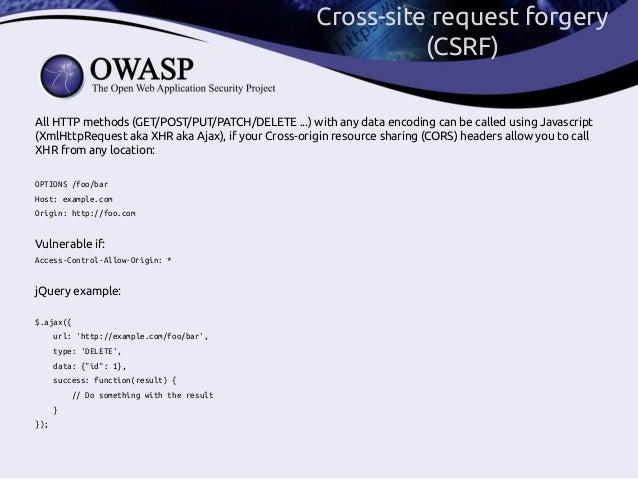 CSRF: ways to exploit, ways to prevent