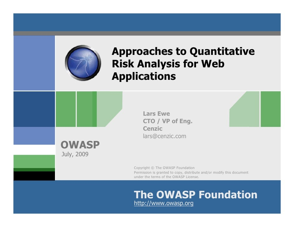 HARM Score:  Approaches to Quantitative Risk Analysis for Web Applications
