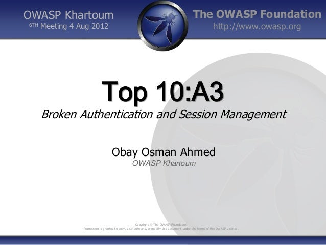 OWASP Khartoum                                                                              The OWASP Foundation6TH   Meet...