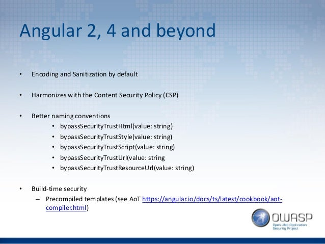 OWASP London - So you thought you were safe using AngularJS