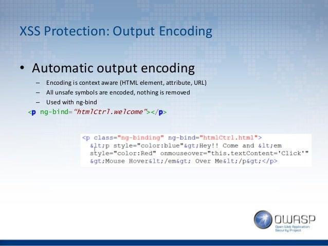 OWASP London - So you thought you were safe using AngularJS