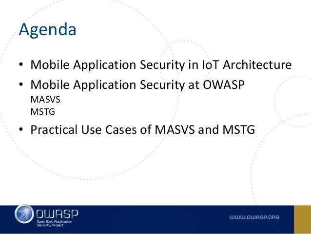 Mobile Security at OWASP - MASVS and MSTG Slide 2