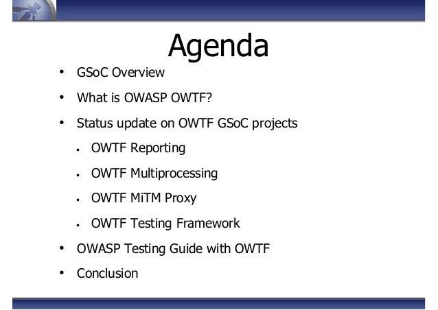 OWASP OWTF - Summer Storm - OWASP AppSec EU 2013 Slide 2