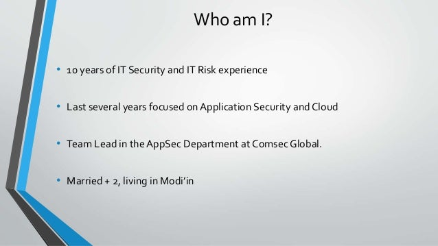 In that case, we have an OWASP Top 10 opportunity... Slide 3