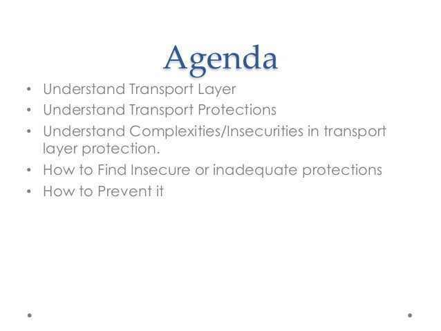 Owasp Mobile Risk Series : M3 : Insufficient Transport Layer Protection Slide 3
