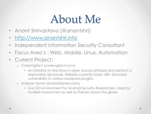 Owasp Mobile Risk Series : M4 : Unintended Data Leakage Slide 2
