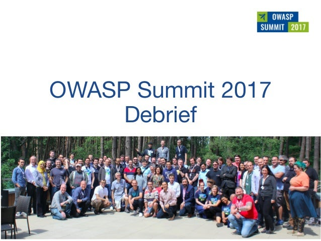 OWASP Summit 2017
