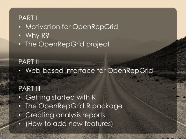 The OpenRepGrid project – Software tools  for the analysis and administration of repertory  grid data Slide 2