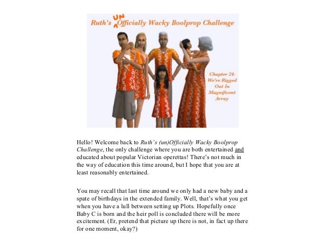 Hello! Welcome back to Ruth's (un)Officially Wacky BoolpropChallenge, the only challenge where you are both entertained an...