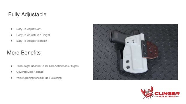 OWB holster for concealed carry, by Clinger Holsters