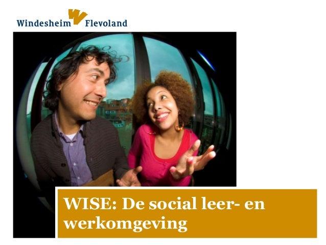 WISE: De social leer- en werkomgeving
