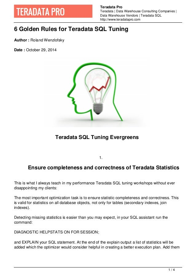 Teradata Pro  Teradata   Data Warehouse Consulting Companies    Data Warehouse Vendors   Teradata SQL  http://www.teradata...