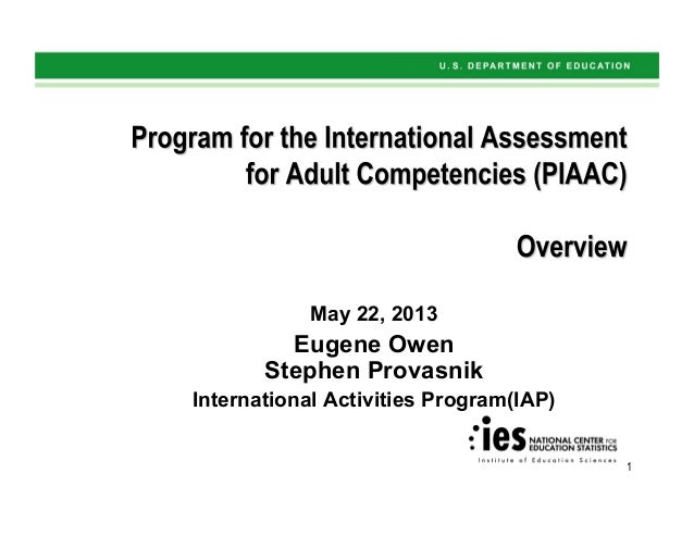 1 May 22, 2013 Eugene Owen Stephen Provasnik International Activities Program(IAP)