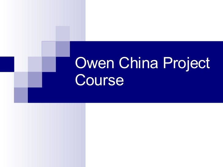Owen China Project Course