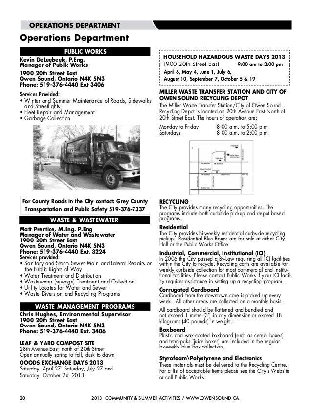 Owen Sound Summer Activities Guide 2013