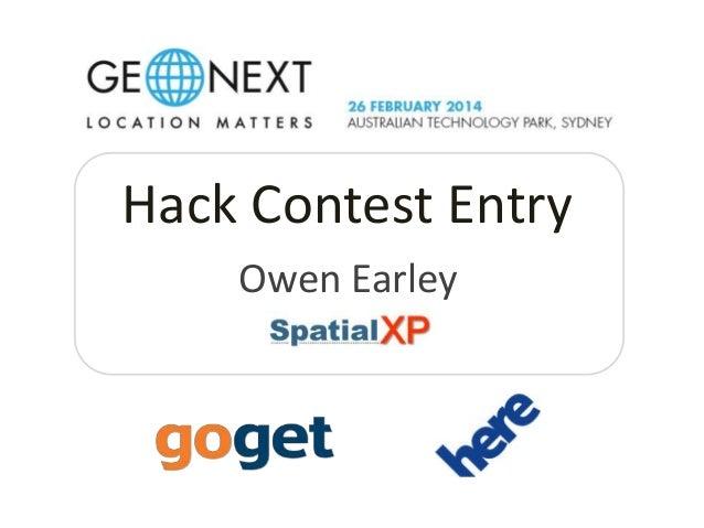 Hack Contest Entry Owen Earley
