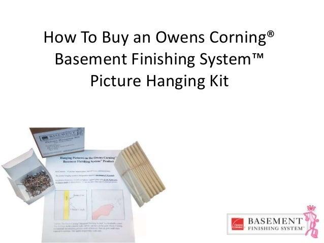 Owens Corning Basement Panels owens corning basement finishing system picture hanging kit